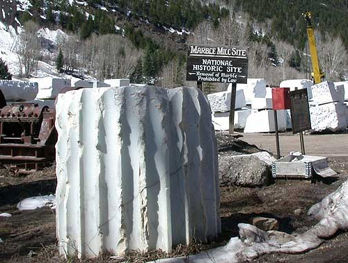 Marble Blocks in Marble, CO